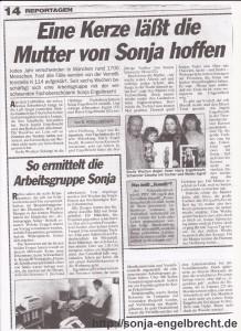 Sonja Engelbrecht  Zeitungsbericht